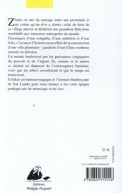 Les chroniques de Zhalie - 4ème de couverture - Format classique