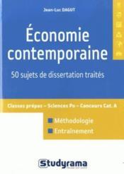 Économie contemporaine ; 50 sujets de dissertation traités - Couverture - Format classique