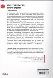 Pollution spaciale ; l'état d'urgence - 4ème de couverture - Format classique
