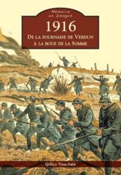 1916 ; de la fournaise de Verdun à la boue de la Somme - Couverture - Format classique