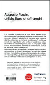 Auguste Rodin, artiste libre et affranchi - 4ème de couverture - Format classique