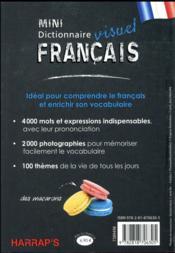 Harrap's mini dictionnaire visuel francais - 4ème de couverture - Format classique