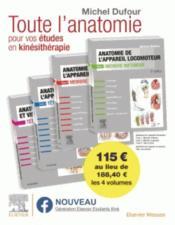 Anatomie de l'appareil locomoteur ; anatomie des organes et des viscères ; pack des 4 tomes - Couverture - Format classique