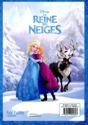 La Reine des Neiges ; agenda - 4ème de couverture - Format classique