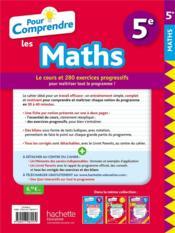 Pour comprendre les maths ; 5e - 4ème de couverture - Format classique