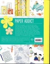 Paper addict - 4ème de couverture - Format classique