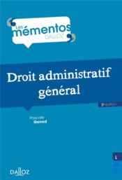 Droit administratif général - Couverture - Format classique