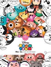 Art-thérapie ; mini-bloc ; tsum tsum ; 60 coloriages - Couverture - Format classique