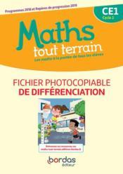 MATHS TOUT TERRAIN ; CE1 ; fichier de différenciation (édition 2020) - Couverture - Format classique