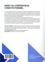 Droit du contentieux constitutionnel (12e édition) - 4ème de couverture - Format classique