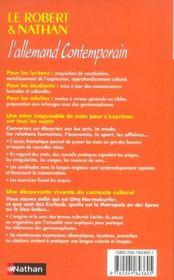 Rob & nath allemand contempora - 4ème de couverture - Format classique