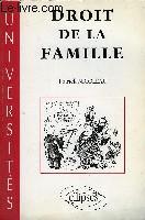 Droit De La Famille - Couverture - Format classique