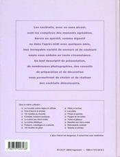 Eblouissants cocktails - 4ème de couverture - Format classique