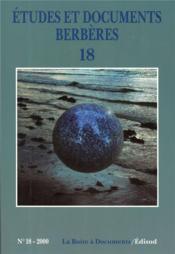Etudes Et Documents Berberes N.18 - Couverture - Format classique
