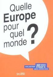 Quelle europe pour quel monde - Intérieur - Format classique