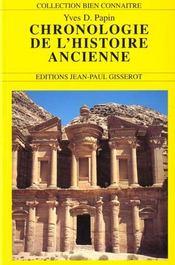 La Chronologie De L'Histoire Ancienne - Intérieur - Format classique