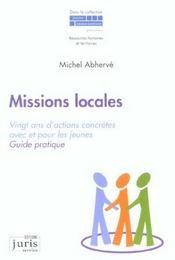 Missions Locales ; Vingt Ans D'Actions Concretes Avec Et Pour Les Jeunes - Intérieur - Format classique