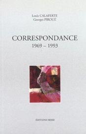 Correspondance 1969-1993 - Intérieur - Format classique
