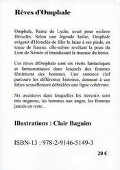 Rêves d'Omphale - 4ème de couverture - Format classique