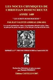 Les noces chymiques de Christian Rosencreutz ; année 1489 - Couverture - Format classique