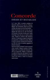 Concorde ; essais et batailles - 4ème de couverture - Format classique