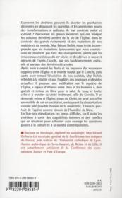 L'église, espace d'alliance ; libres propos d'ecclésiologie pratique - 4ème de couverture - Format classique