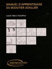 Manuel d'apprentissage du bijoutier-joaillier - Couverture - Format classique