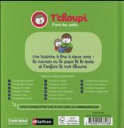T'choupi au square - 4ème de couverture - Format classique
