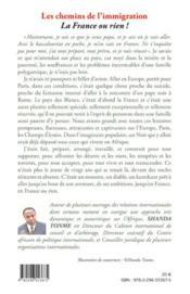 Les chemins de l'immigration t.3 ; la France ou rien ! - 4ème de couverture - Format classique