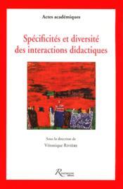 Spécificités et diversité des interactions didactiques - Couverture - Format classique