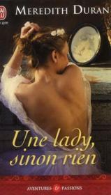 Une lady, sinon rien - Couverture - Format classique