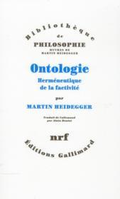 Ontologie ; hermeneutique de la factivité - Couverture - Format classique