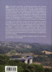 La gestion des chantiers de travaux publics ; l'étude, la préparation, le suivi - 4ème de couverture - Format classique