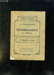 La Therapeutique Du Nourrisson En Clientele. - Couverture - Format classique