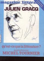 Magazine Litteraire N°179 - Julien Gracq, Qu'Est Ce Que La Litterature ? Un Entretien Avec Michel Tournier - Couverture - Format classique