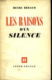 Les Raisons D'Un Silence - Couverture - Format classique