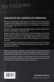 Assurance-vie et gestion du patrimoine (2e édition) - 4ème de couverture - Format classique