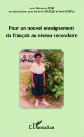Pour un nouvel enseignement du francais au niveau secondaire - Couverture - Format classique
