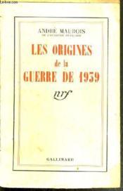 Les Origines De La Guerre De 1939. - Couverture - Format classique