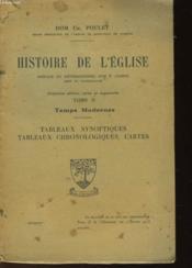 Histoire De L'Eglise - Tome Ii - Temps Modernes - Couverture - Format classique