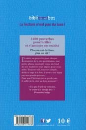 1600 proverbes pour briller et s'amuser en société - 4ème de couverture - Format classique