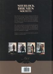 Sherlock Holmes Society T.2 ; noires sont leurs âmes - 4ème de couverture - Format classique