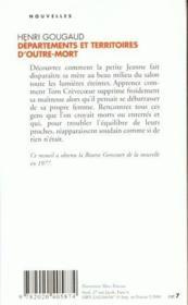 Departements Et Territoires D'Outre-Mort - Couverture - Format classique