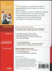 Dialogue du chapon et de la poularde et autres dialogues philosophiques - 4ème de couverture - Format classique