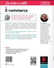 La Boite A Outils ; Du E-Commerce - 4ème de couverture - Format classique