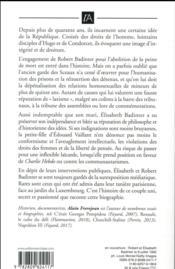 Robert et Elisabeth Badinter ; ou le refus de l'injustice - 4ème de couverture - Format classique