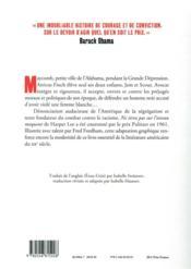 Ne tirez pas sur l'oiseau moqueur ; roman graphique - 4ème de couverture - Format classique