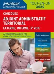 Concours adjoint administratif territorial ; tout-en-un - tout-en-un - concours (édition 2019/2020) - Couverture - Format classique