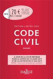 Code civil (édition 2020) - Couverture - Format classique