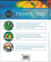 Perroquets - 4ème de couverture - Format classique